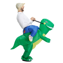 TOLOCO inflatable dinosaur costume for adults Halloween costume disfraces fancy dress for men kids animal cloth Fan operated(China)