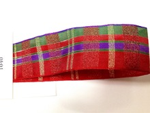 N1040 38mm X 25yards Wired Edges Red Scottish Gingham Ribbon. Gift Bow,Wedding,Cake Wrap,Tree Decoration,Wreath