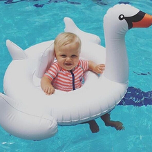 Swan Design Cute Kids Baby Child Inflatable Swimming laps Pool Swim Ring Seat Float Boat Water Sports