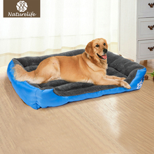 Pet Dog Bed Warming Dog House Soft Material Nest Dog Baskets Fall and Winter Warm Kennel For Cat Puppy Plus size Drop shipping(China)