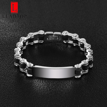 High Quality Latest Fashion Stianless Steel Mens Bike Chain Bracelets Can be Laser Engrave