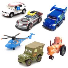 Disney Pixar Cars 14 Styles Metal Car Sarge Lizzie 1:55 Diecast Metal Alloy Toys Birthday Christmas Gifts For Kids Cars Toys(China)