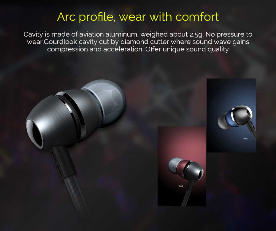 Astrotec Professional HIFI AM700M Stereo Bass In-ear Eerphone 10-27000Hz 32OHM 106dB 3.5mm Plug for iPhone 6 Xiaomi Redmi 4X
