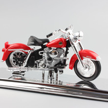 1:18 Scale Mini children Harley 1958 FLH Duo Glide Die cast model motorcycle toys street ride bike cars antique style for boys