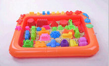 2017 Inflatable Sand Tray Kit Table Indoor Playing Children Kids Clay Plastic Play Gift