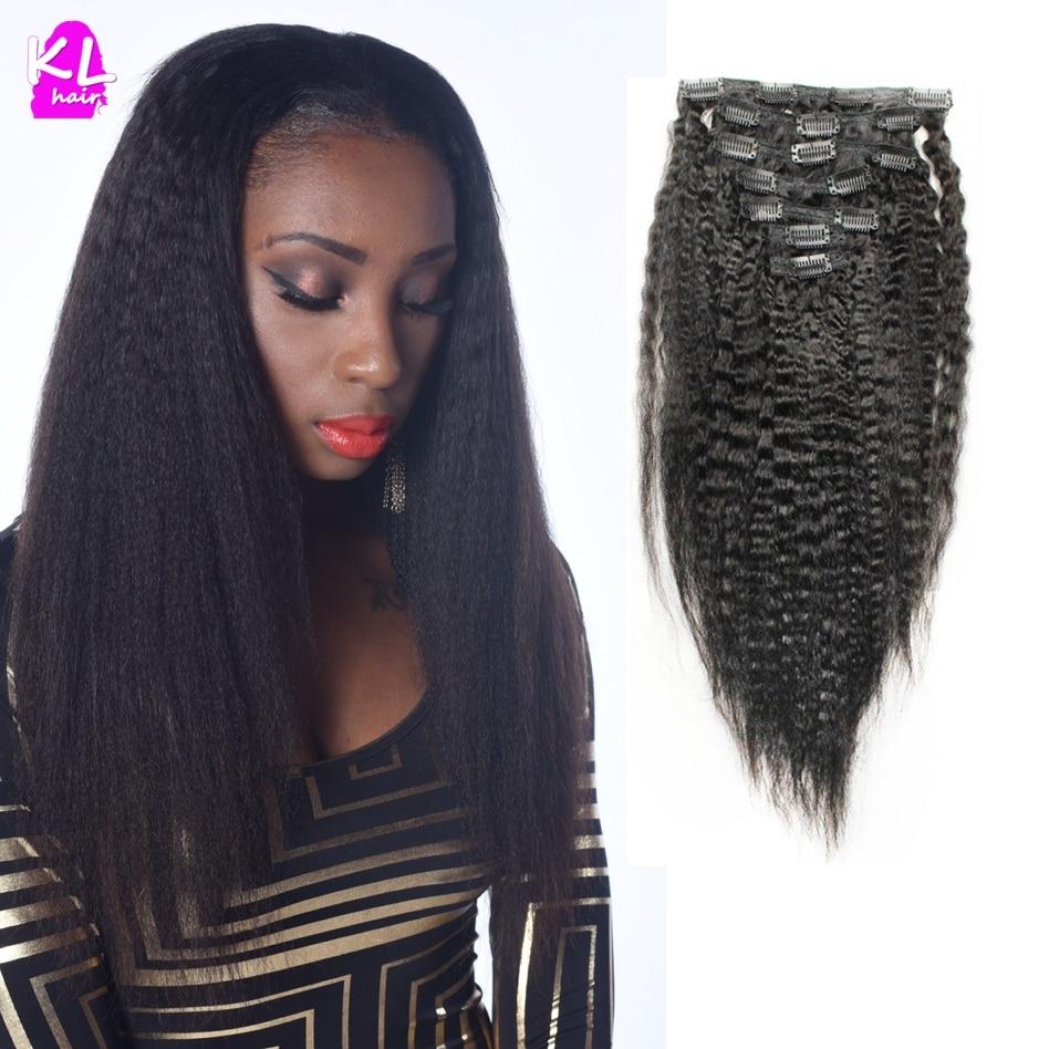 Kinky Straight Virgin Hair Clip in Human Hair Extension 7A Peruvian Virgin Hair Kinky Straight Clip in Hair Extension<br><br>Aliexpress