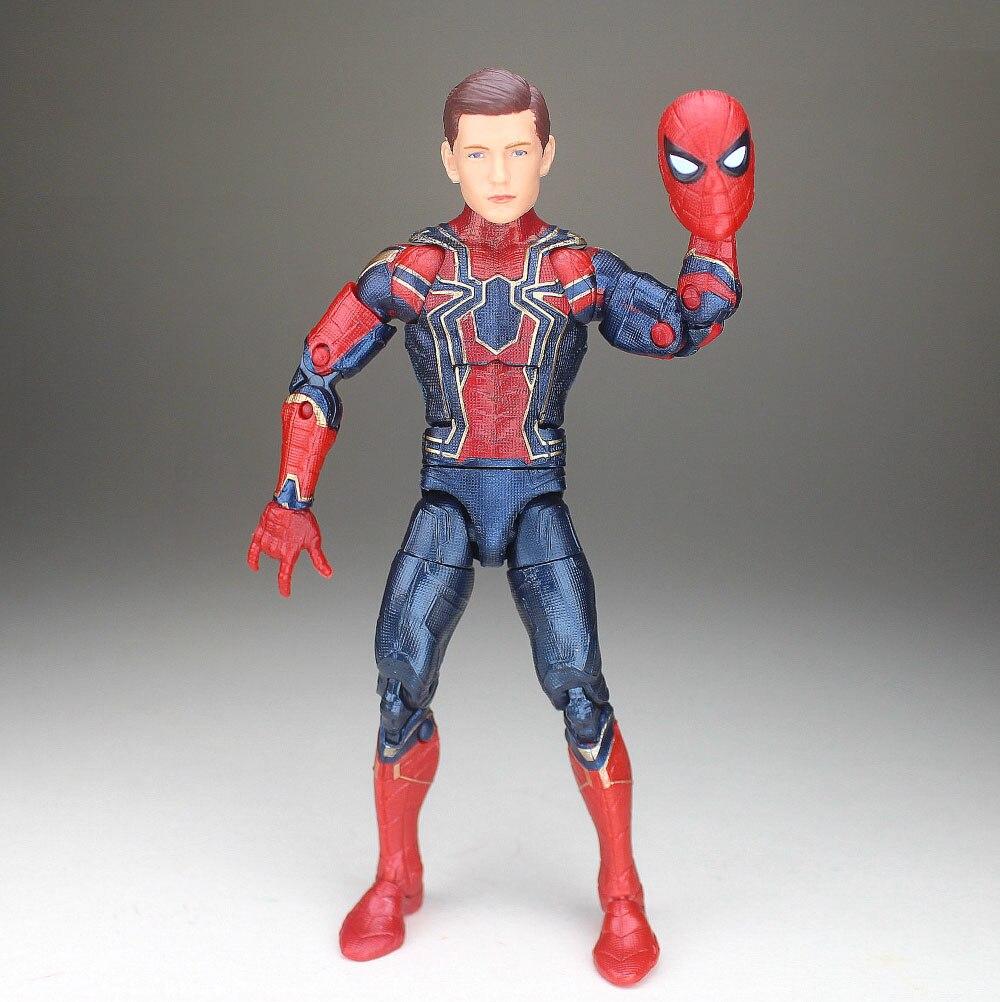 Marvel Legends Avengers Infinity War Iron Man MK46 Spiderman Tom Holland Figure