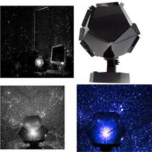 Sky Projection Cosmos Night Lights Science Star Light LED Romantic Starry Night Lamp Bedroom Decoration US Plug Blue/ White(China)