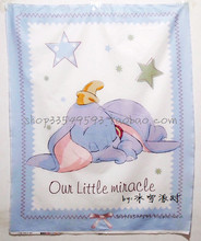 105*88cm Cartoon Dumbo Elephant cotton patchwork printed fabric denim fabric for Tissue Kids Bedding home textile(China)