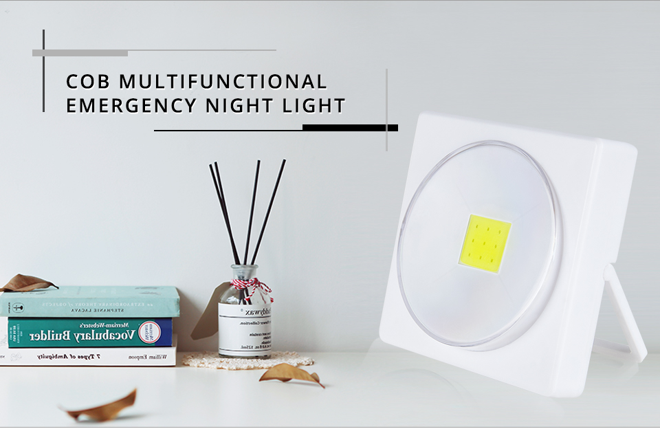 LED Desk Light Battery Powered Magnets COB With Switch Reading Book Lights _ (1)