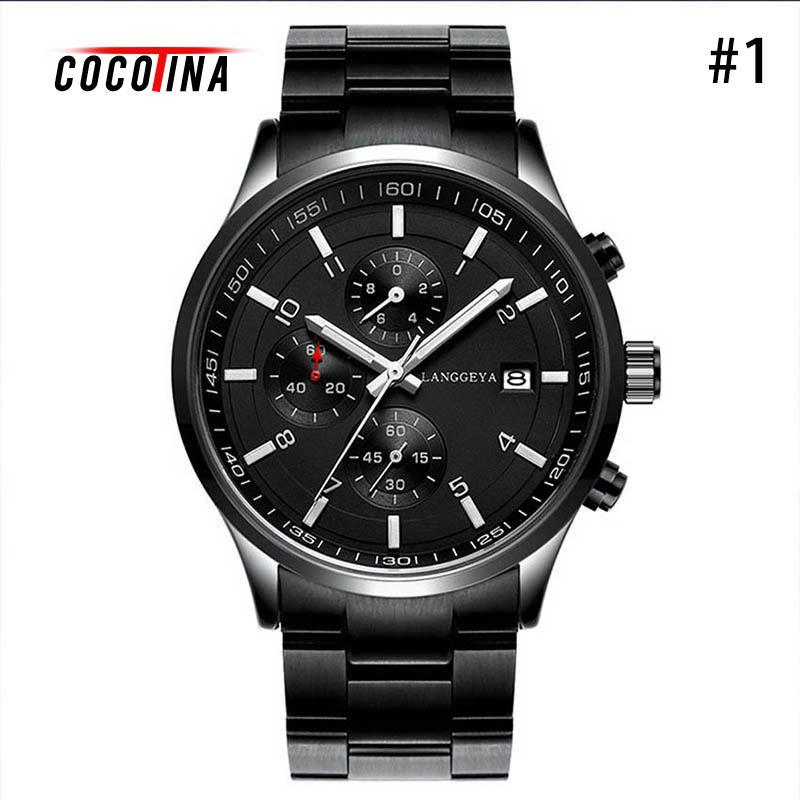 COCOTINA Top Brand Male Business Quartz Watch Men Stainless Steel Band Wristwatch Calendar Relogio Masculino LSB01243<br>