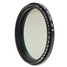 49mm ND Filter Fader Neutral Density Adjustable ND2 to ND400 Variable Filter(China)