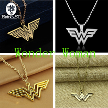4 styles Wonder Woman Necklace super hero series symbol of Wonder Woman Choker metal Charm Pendants Necklaces for Women Jewelry