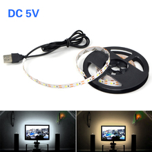 SMD 2835 LED Strip Light DC5V USB Cable Power 50CM 1M 2M 3M 4M 5M Desk Decor String Light Tape For TV Background Lighting