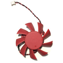 Graphics Card Fan Computer Cooler Fans For ASUS HD5770 HD 5770 Video Card cooling(65mm DC 12V 0.43AMP 2 Wire)(China)