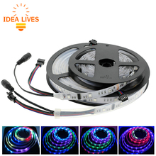 6803 IC SMD 5050 RGB Dream Magic Color LED Strip DC12V 30LED/M IP67 waterproof /Non Waterproof Flexible Strip Tape 5M