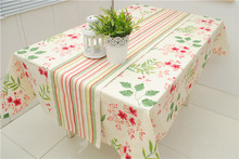 Europe Style 100% Cotton Canvas Rainbow Striped Table Runner for Home/Hotel Double Sides 30*180cm 30* 210cm Accept Customized