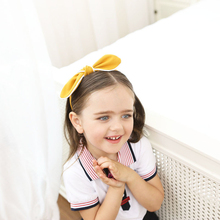 New Fashion Hairbands for Kids Hair Ribbon Bows Girls Hairbands Babygirl Headbands Girls Hair Accessories Pink Yellow Blue
