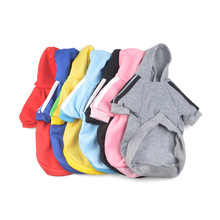 10PC/Lot 7Colors Pet Dog Brand Coat Small Dogs Hoodies Sweaters Winter Dog Sportwear Pet Clothes(China)