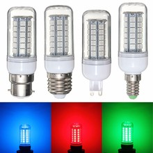 5050 SMD 48 LED Light Bulb E27/E14/G9/B22 3.5W Red/Green/Blue 300Lumen Energy Saving Plastic Lamp Bulb Non Dimmable AC 220V