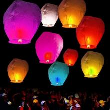 30 pcs Wishing Lamp Round Paper Chinese Lanterns Kongming Flying Paper Sky Lanterns For Wedding Bachelorette Party Balloons