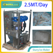 2.5MT per day quality slurry ice maker machine for fishery replace flake ice maker(China)
