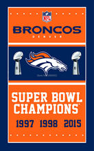 Denver Broncos Super Bowl Champions Man Cave Sports Banner Basketball Flag 3' x 5' Custom Hockey Baseball Football Flag