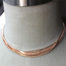 Hot new fashion gorgeous female jewelry wholesale, girl birthday party, beautiful multilayer short chain necklace agent freight