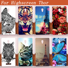 Soft Tpu Case For Highscreen Thor Luxury Diy Uv Painting Colored Tiger Owl Rose Silicone Cover Bags For Highscreen Thor 5""