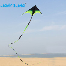 Lightaling High Quality Huge Delta Kite Prairie Snake Kites Toys with 10m Tails Flying Outdoor Flying hcxkite Rod Ripstop