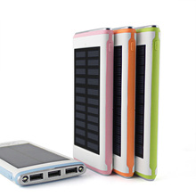 Waterproof Solar Power Bank Real 5000mah Backup Bateria Externa Portable Solar Charger Powerbank for mobile phone