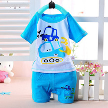 Girls Clothing Boys Children Set Baby Clothes Brand Kids Sets Cartoon Toddler Print Short-sleeve T-shirt Pants Kid Sport Suits