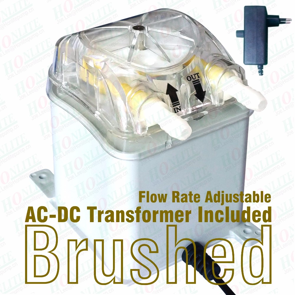 100~240Vac, 250ml/min Peristaltic Pump with transformer, exchangeable pump head and FDA approved PharMed BPT Peristaltic Tube<br><br>Aliexpress