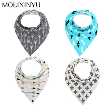 MOLIXINYU 4pcs/lot Baby Bibs For Boy/Girl Burp Cloths Bandana Bibs Baby Bandana Infant Waterproof Dribble Bibs Bandanas(China)