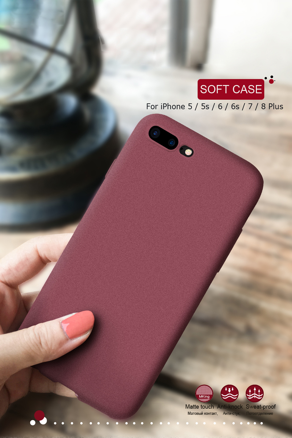 LECAYEE NEW Original Phone Case For Apple iphone 7 6s 8 Plus X 5S Case Full Cover TPU Soft Matte Touch Feel Back Protective Case (7)