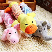 1Pcs 25*4cm  Squeaky Plush Sound Duck Pig & Elephant Shapes Toys  Dog Toys Pet Puppy Chew Squeaker