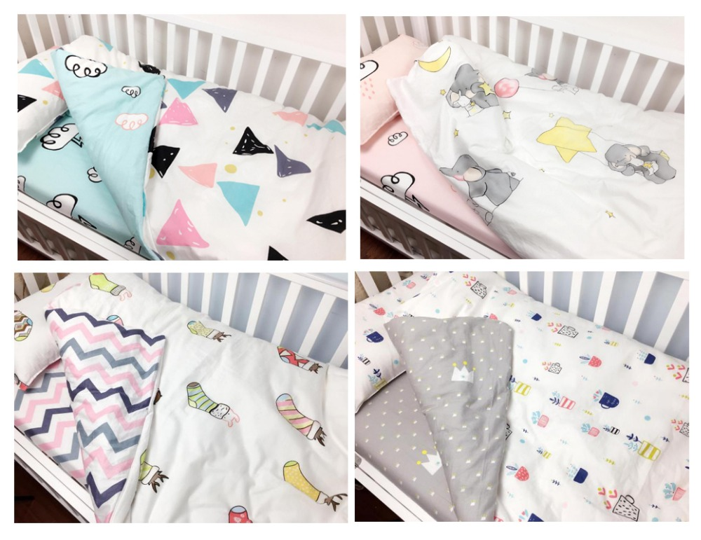 3 Pc Cot bedding set for newborn babies  Infant Room Kids Baby Bedroom Set Nursery Bedding  baby bedding quilt, sheets,pillow<br>