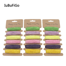 [IuBuFiGo] DIY Colorful Paper Raffia Twine Rope Ribbon Thread For Gift Wrap Packing Crafts Scrapbooking Hook Decoration(China)