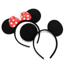 10pcs/set Children Hair Accessories Dot Mouse Ears Headbands Birthday party Decoration Boys Girls headband Party Supplies