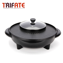Multifunctional 1600W/1700W Electric Pan Grill BBQ Grill Raclette Grill Electric Hotpot With Grill Pan