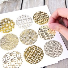 New 90pcs gold design Food Tags Labels Gift Tag Stickers birthday Home Decoration Tag Adhesive Sticker Paper(China)