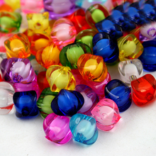 Wholesale New arrival 100pcs/lot 8*8mm Cube Faceted 10 Colors Acrylic Loose Spacer Beads for Jewelry & DIY Craft PS-BSD096