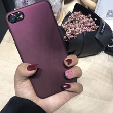 Luxury Wine Red Case For iphone 7 Case For iphone 6 6S 7 7 Plus 5 5S SE Phone Cases Fashion Hard PC Frosted Cover Capa Fundas(China)