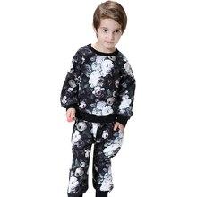 Осенняя мода Детская одежда Наборы для ухода за кожей комплект детской одежды, Одежда для мальчиков и девочек, с ручной росписью, спортивные...(China)