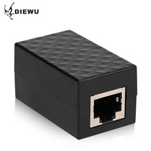 DIEWU RJ45 Network Through Interface Network extended Connector Cable Plug Coupler Joiner Splitter For Computer Cellphone(China)