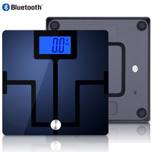 Profession 180kg/400lb Capacity Smart Bluetooth Body Fat Scale Floor Scales Health Weight Water Bone Mass Digital Bathroom Scale