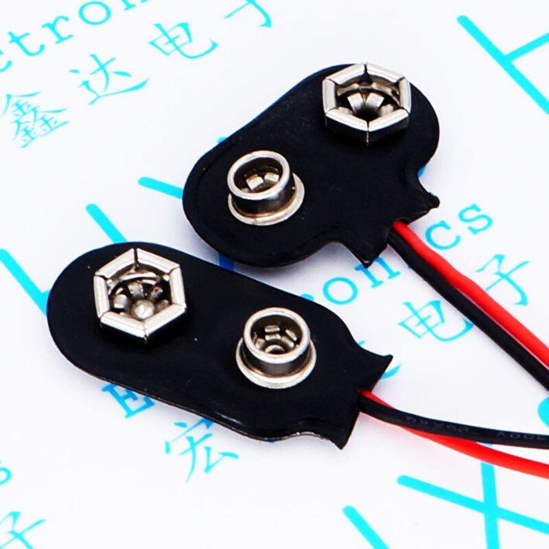 9 v battery button after 9 v battery lead length 15 cm brass buckle<br>
