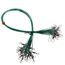 20Pcs/Pack Fishing Tackle Lure Trace Wire 15cm 20cm 25cm 30cm Length High Carbon Stainless Steel Anti-bite Sub Fishing Line(China)