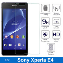 0.26MM 9H Screen Protector Explosion-Proof On Phone Tempered Glass Film For Sony Xperia E4 E2105 E2114 E2115 E2124 dual 5.0