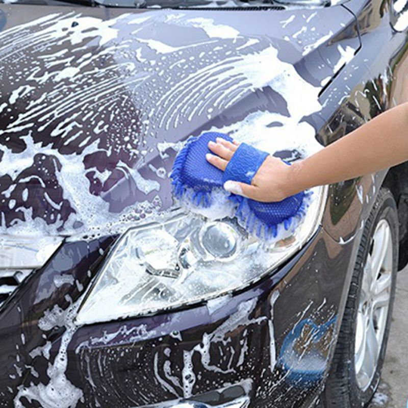 Microfiber Car Cleaning Sponge Car Wash Brush Autombile Care Detailing Washing Auto Clay Bar Clean Duster Polish Accessories